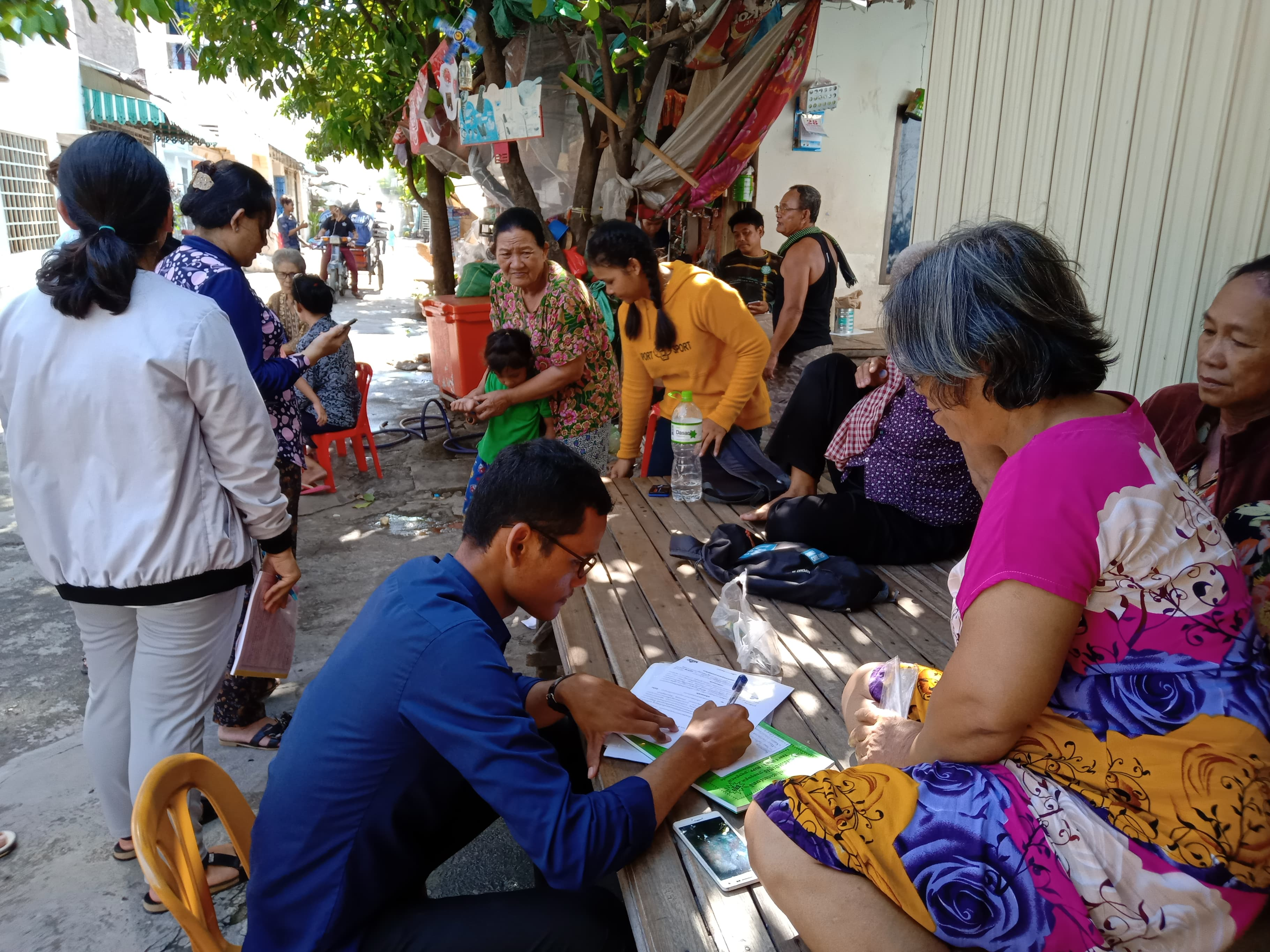 Sang Samart assisting older persons in Cambodia
