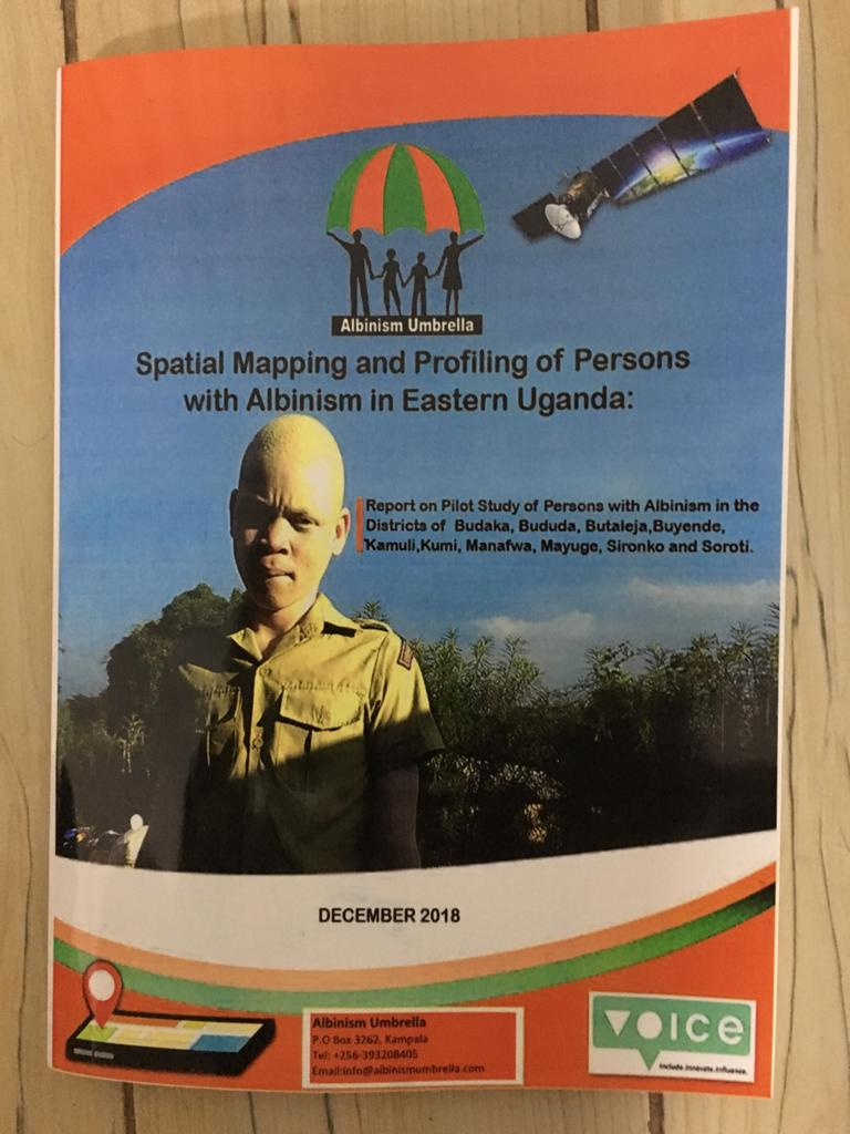 Cover page of the Spatial mapping and profiling of persons with albinism in East Uganda report