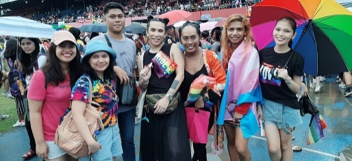 Gayon Inc. with Voice and other LGBT friends during the Pride March