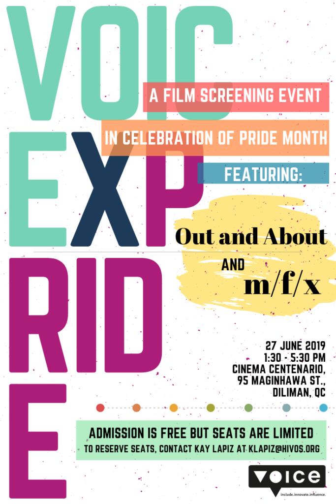 Voice x Pride Invite poster