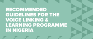 Nigeria - defining our own Linking & Learning